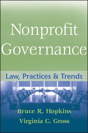 Nonprofit Governance: Law, Practices, and Trends (0470358041) cover image