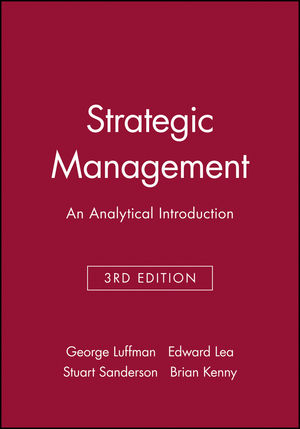 Strategic Management: An Analytical Introduction, 3rd Edition