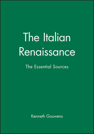 The Italian Renaissance: The Essential Sources (0631231641) cover image