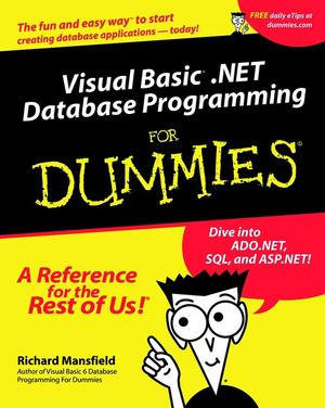 Visual Basic .NET Database Programming For Dummies (0764508741) cover image