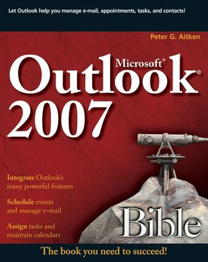 Microsoft Outlook 2007 Bible (0470168242) cover image