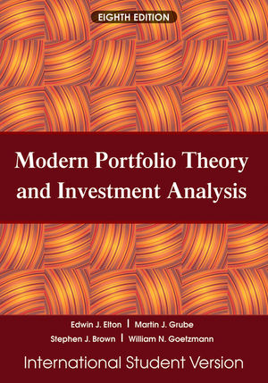 Wiley: Modern Portfolio Theory And Investment Analysis, 8Th
