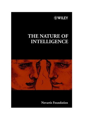The Nature of Intelligence (0470870842) cover image