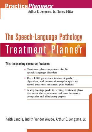 The Speech-Language Pathology Treatment Planner (0471275042) cover image