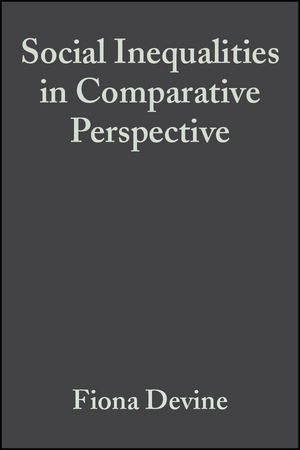 Social Inequalities in Comparative Perspective (0631226842) cover image