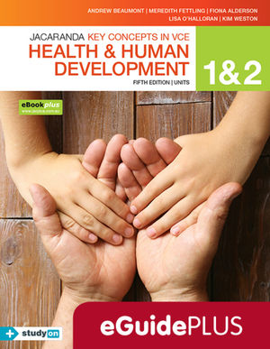 Key Concepts in VCE Health and Human Development Units 1 & 2 5E eGuide (Online Purchase), 5th Edition