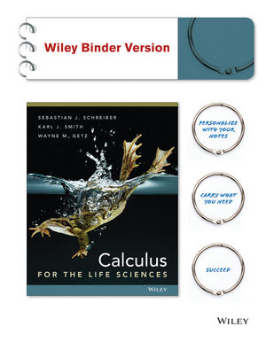 Calculus for The Life Sciences 1e Binder Ready Version + WileyPLUS Registration Card