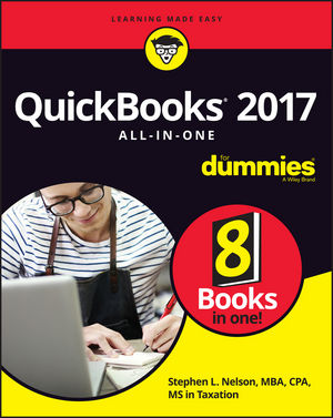 QuickBooks 2017 All-In-One For Dummies (1119281342) cover image