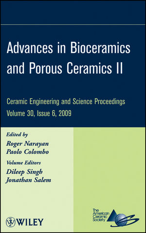 Advances in Bioceramics and Porous Ceramics, Volume 30, Issue 6 (0470584343) cover image