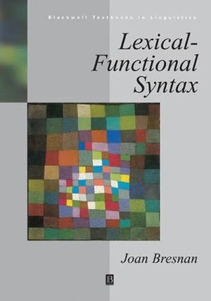 Lexical-Functional Syntax (0631209743) cover image