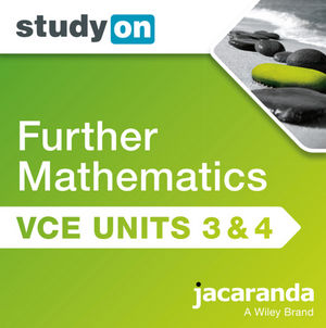 StudyOn VCE Further Mathematics Units 3&4 2E (Online Purchase)