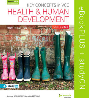 Key Concepts in VCE Health and Human Development Units 3 & 4 4E eBookPLUS (OL) + StudyOn VCE Health and Human Development Units 3 & 4 (OL)
