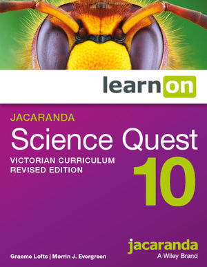 Jacaranda Science Quest 10 Victorian Curriculum LearnOn (Online Purchase)