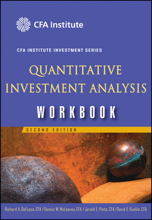 Quantitative Investment Analysis Workbook, 2nd Edition (1118044843) cover image