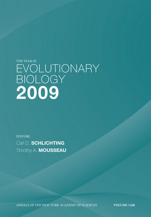 The Year in Evolutionary Biology 2009, Volume 1168