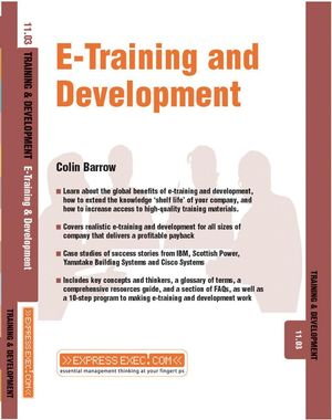 E-Training and Development: Training and Development 11.3