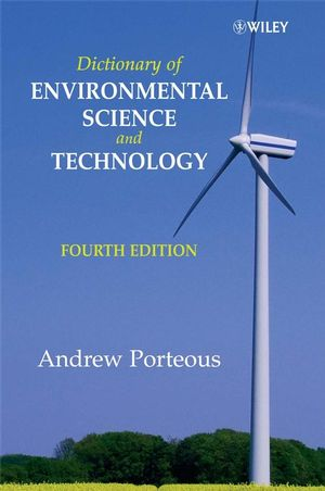 Dictionary of Environmental Science and Technology, 4th Edition