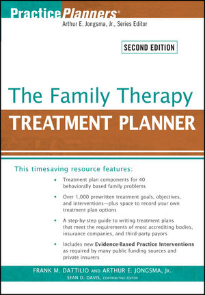 The Family Therapy Treatment Planner, 2nd Edition (0470586044) cover image