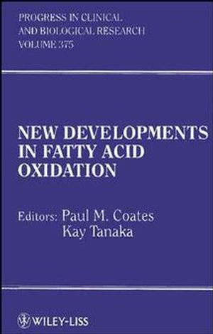 New Developments in Fatty Acid Oxidation (0471561444) cover image