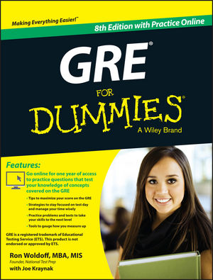 GRE For Dummies: with Online Practice Tests, 8th Edition