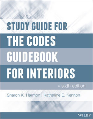 Study Guide for The Codes Guidebook for Interiors, 6th Edition (1118952944) cover image