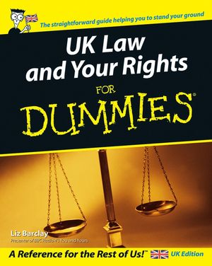 UK Law and Your Rights For Dummies (1119997844) cover image