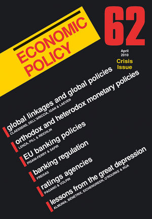 Economic Policy 62: Financial Crisis Issue (1444390244) cover image