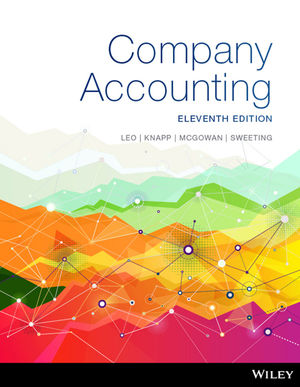 Company Accounting 11E Ia Wiley E-Text: Powered By VitalSource