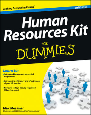 Human Resources Kit For Dummies, 3rd Edition (1118422945) cover image
