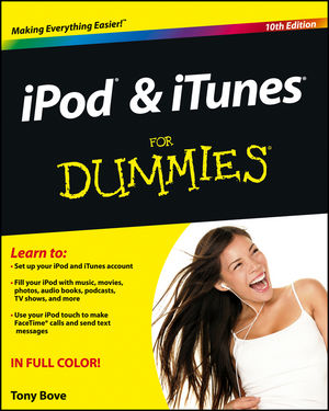 Book Cover Image for iPod and iTunes For Dummies, 10th Edition