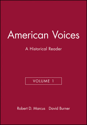 American Voices, Volume 1: A Historical Reader (1881089045) cover image
