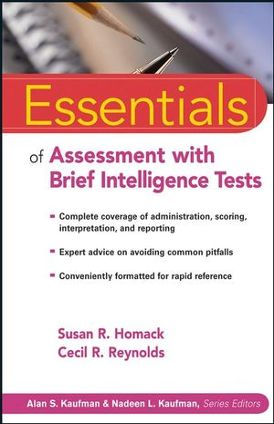 Essentials of Assessment with Brief Intelligence Tests (0470115246) cover image