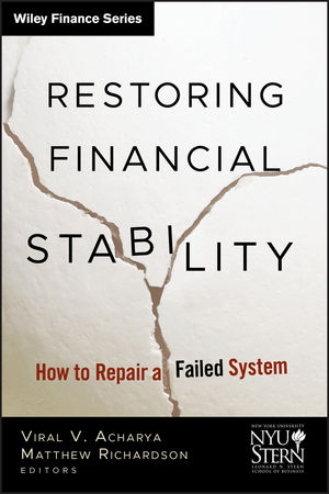 Restoring Financial Stability: How to Repair a Failed System  (0470499346) cover image