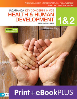 Key concepts VCE Health and Human development U 1&2 4E EBK & PRINT+S/ON