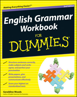 English Grammar Workbook For Dummies, 2nd Edition (1118047346) cover image