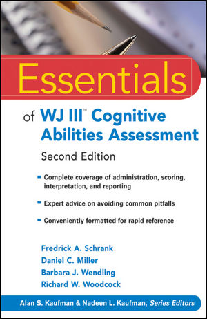Essentials of WJ III Cognitive Abilities Assessment, 2nd Edition (0470566647) cover image