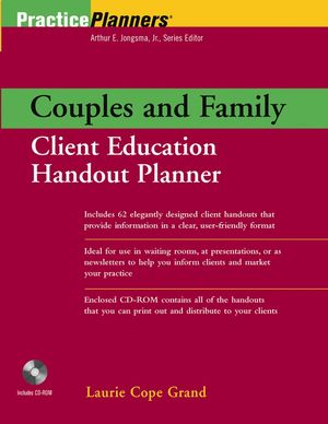 Couples and Family Client Education Handout Planner (0471202347) cover image