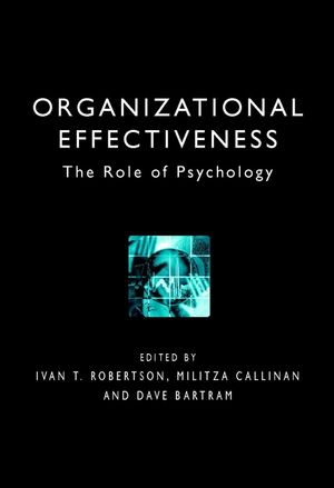 Organizational Effectiveness: The Role of Psychology