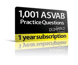 1,001 ASVAB Practice Questions For Dummies (1-Year Online Subscription)