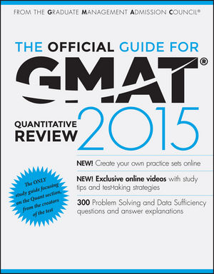 Book Cover Image for The Official Guide for GMAT Quantitative Review 2015 with Online Question Bank and Exclusive Video