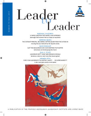 Leader to Leader (LTL), Volume 78 , Fall 2015