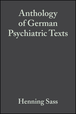 Anthology of German Psychiatric Texts