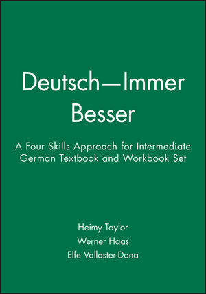 Deutsch -- Immer Besser: A Four Skills Approach for Intermediate German, Textbook and Workbook Set (0471200948) cover image