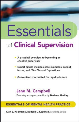 Essentials of Clinical Supervision (0471233048) cover image