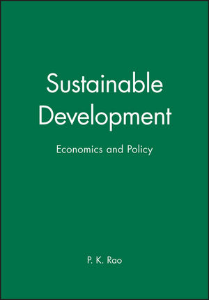 Sustainable Development: Economics and Policy (0631209948) cover image