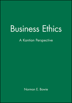 Business Ethics: A Kantian Perspective (0631211748) cover image
