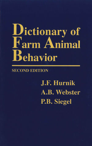 Dictionary of Farm Animal Behavior, 2nd Edition
