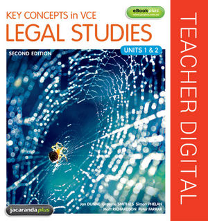 Key Concepts in VCE Legal Studies Units 1 & 2 2E eGuidePLUS (Online Purchase)