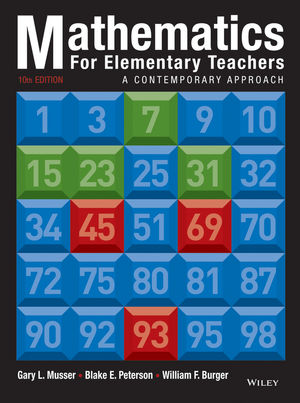 Mathematics for Elementary Teachers: A Contemporary Approach 10e + WileyPLUS Registration Card