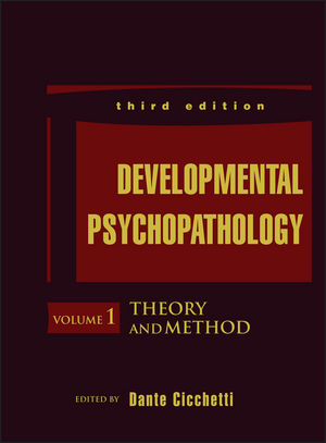 Developmental Psychopathology, Volume 1, Theory and Method, 3rd Edition (1119125448) cover image